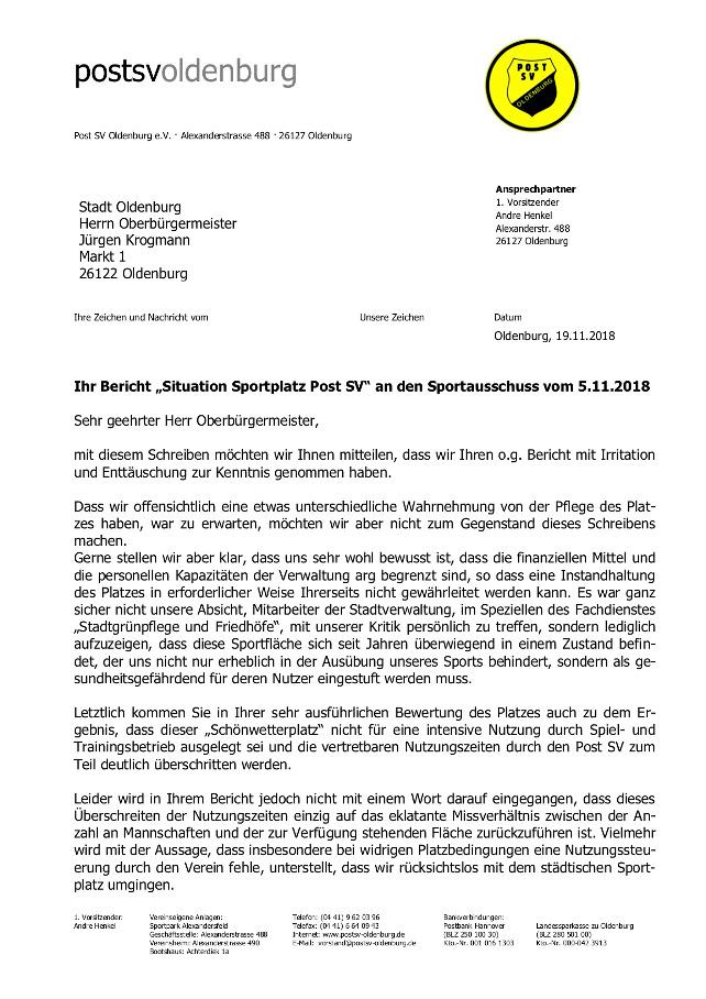 Offener Brief An Den Oberbürgermeister